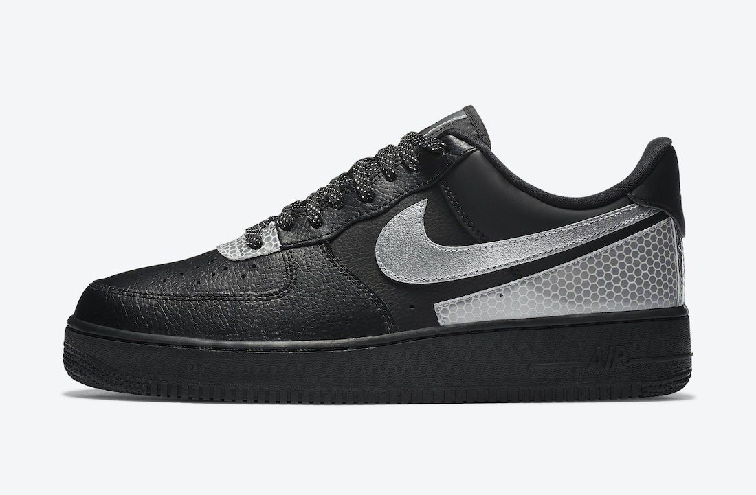 CT2299-001 3M x Nike Air Force 1 Low Chaussures - Noir/Argent