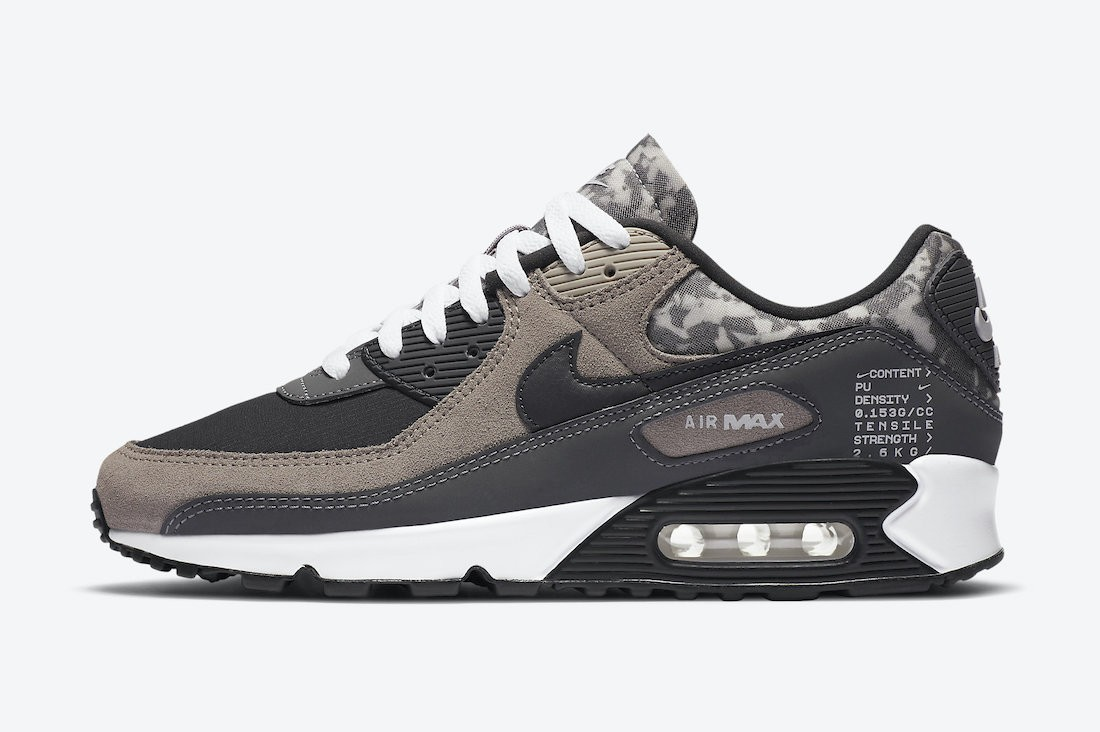 CT1688-001 Nike Air Max 90 SE - Enigma Stone/Noir-Grise-Blanche