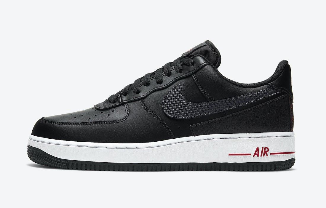 "DD7113-001 Nike Air Force 1 ""Technical Stitch"" - Noir/Rouge-Blanche"