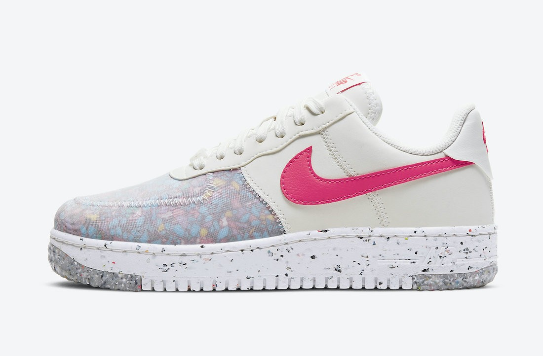CT1986-101 Nike Femme Air Force 1 Crater - Blanche/Rouge