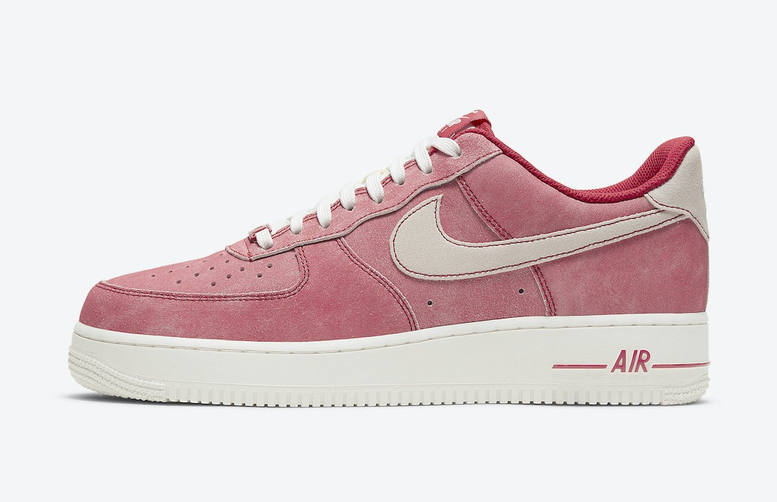 DH0265-600 Nike Air Force 1 Low Chaussures - Rouge/Blanche-Sail