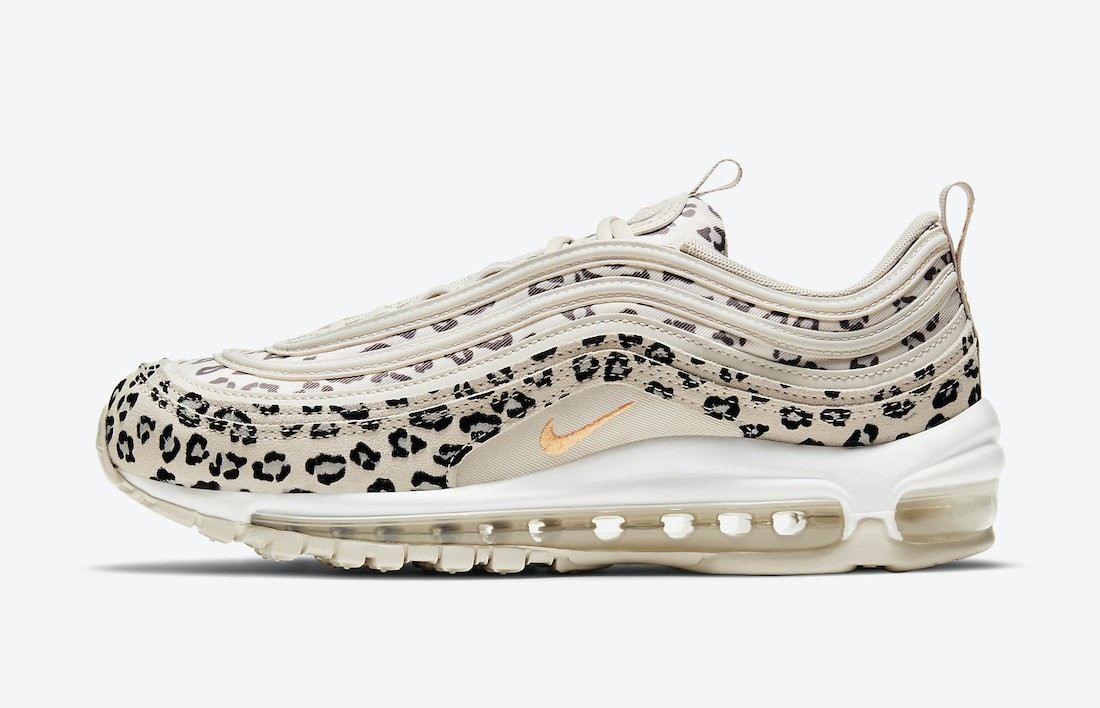 "CW5595-001 Nike Air Max 97 ""Leopard"" - Blanche/Orange-Beige"