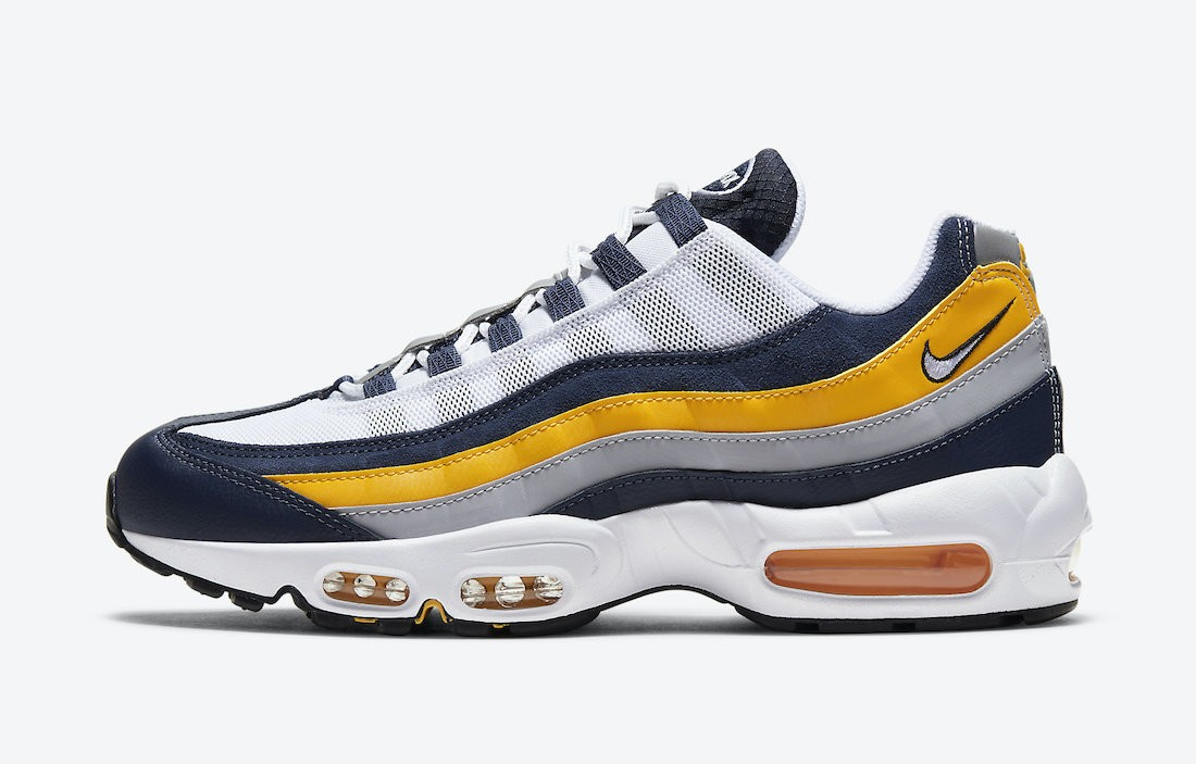 CZ0191-400 Nike Air Max 95 Chaussures - Navy/Blanche-Or
