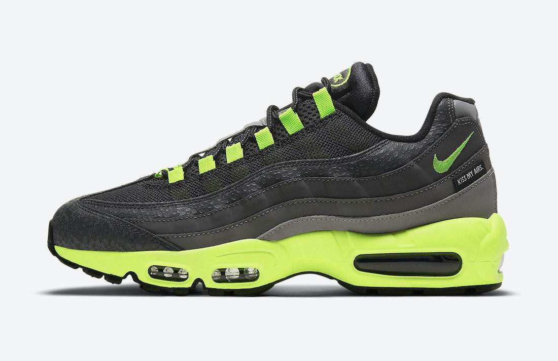 "DJ4627-001 Nike Air Max 95 ""Kiss My Airs"" - Noir/Volt"