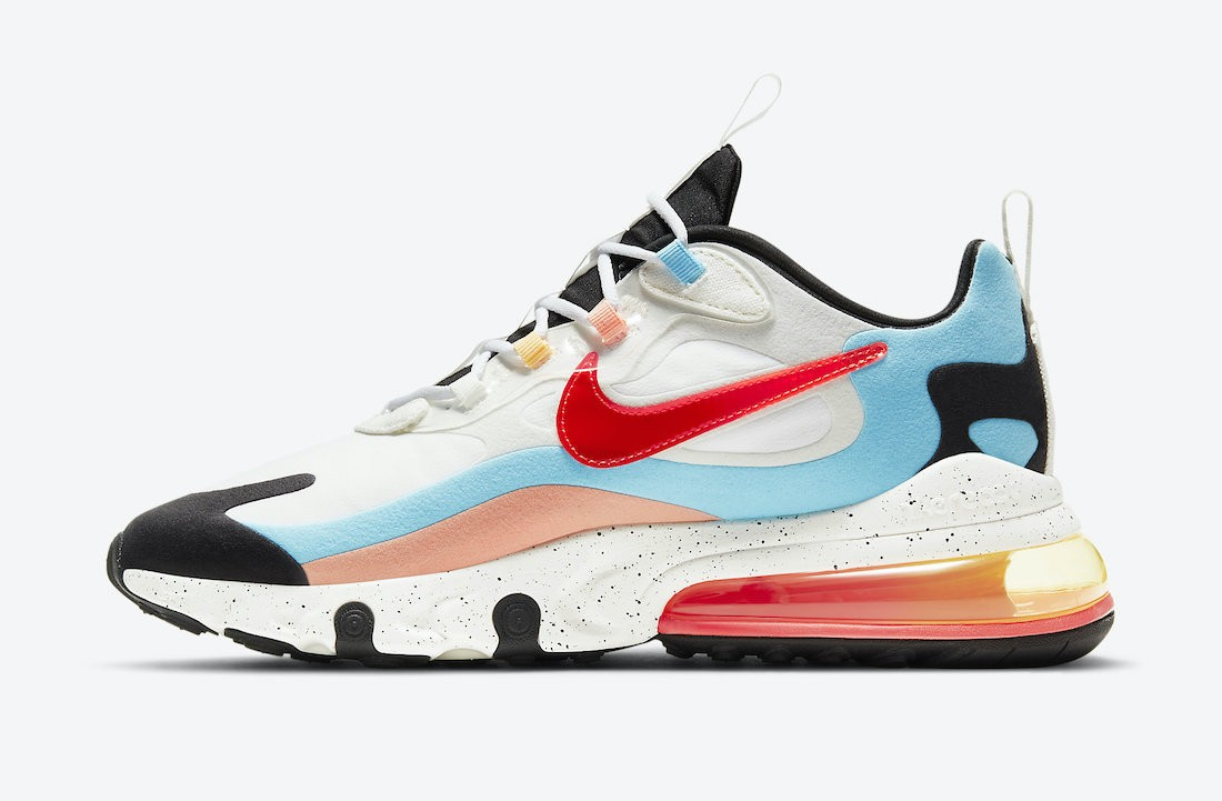 "DD8498-161 Nike Air Max 270 React ""The Future is in the Air"" - Blanche/Infrared"