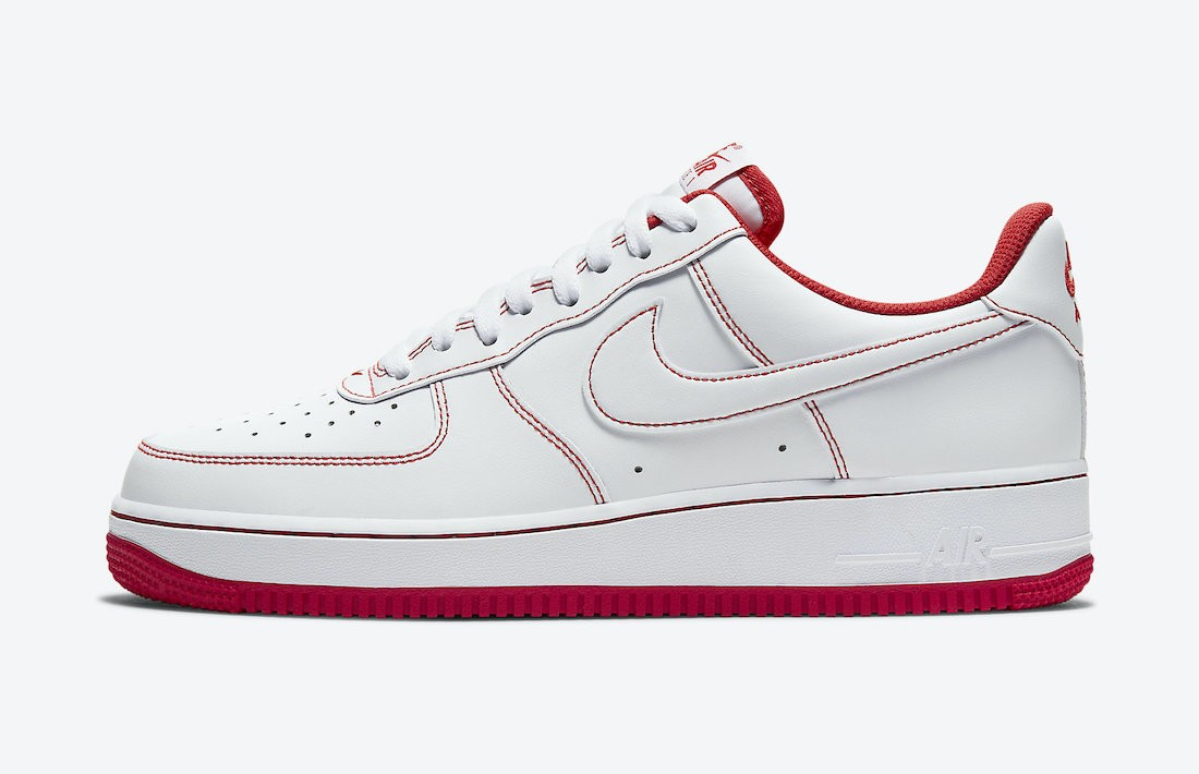 CV1724-100 Nike Homme Air Force 1 Low - Blanche/Blanche-Rouge