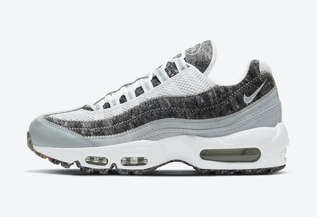 CV8830-400 Nike Femme Air Max 95 Crater Chaussures - Blanche/Grise