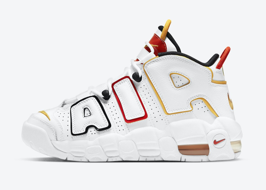 "DD9282-100 Nike Air More Uptempo GS ""Raygun"" - Blanche/Noir-Rouge"