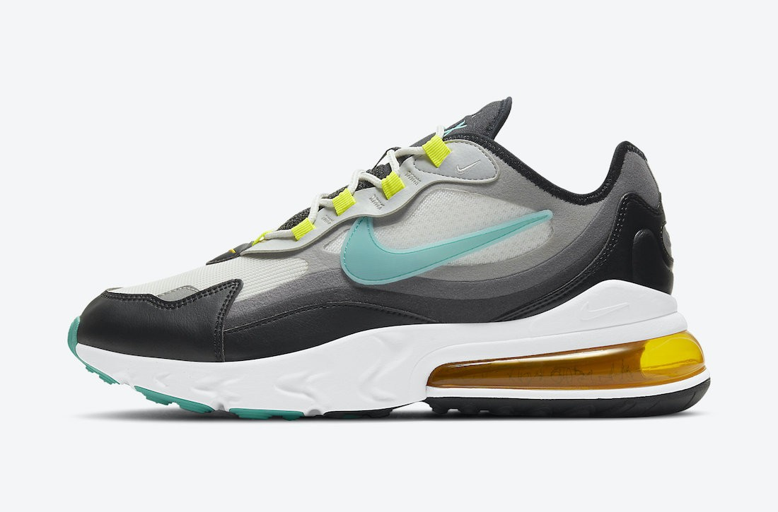 """DJ5856-100 Nike Air Max 270 React """"Evolution of Icons"""" - Dusty Cactus/Grise-Noir"""
