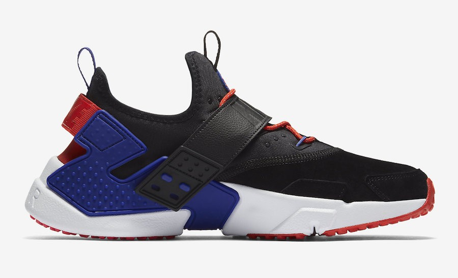 AH7335-002 Nike Air Huarache Drift Premium - Noir/Orange/Lagoon Pulse