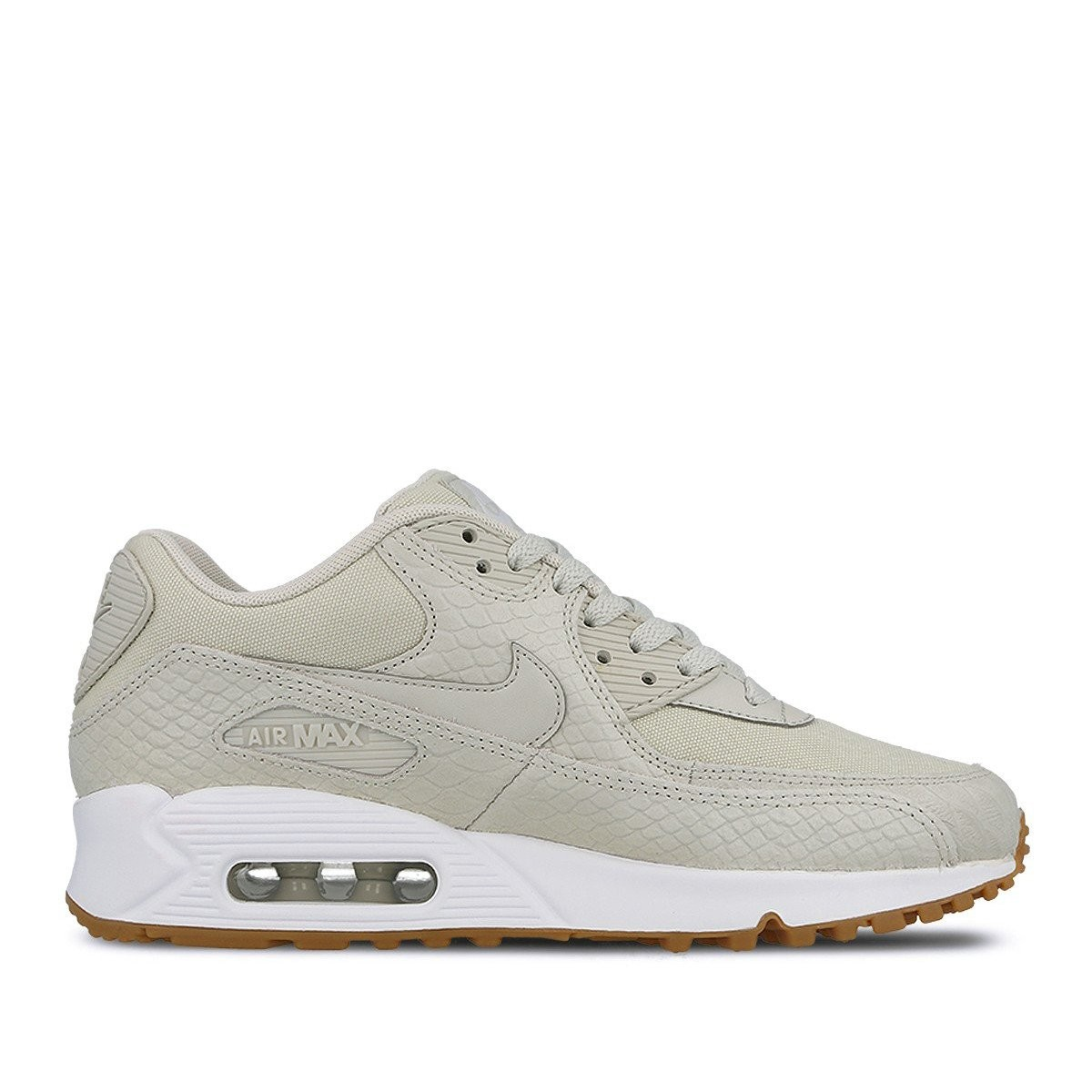 896497-001 Nike Femme Air Max 90 PRM Chaussures - Light Bone/Blanche