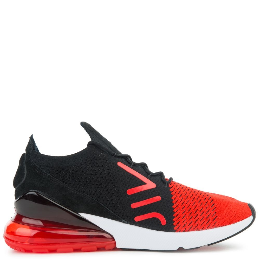 AO1023-601 Nike Air Max 270 Flyknit Chaussures - Rouge/Noir/Blanche