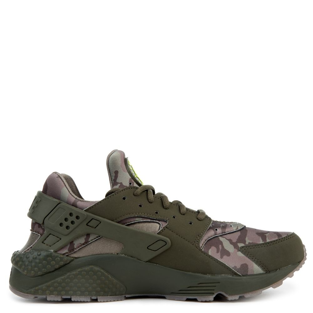 AT6156-300 Nike Air Huarache Run Chaussures - Cargo Khaki/Volt-Sequoia