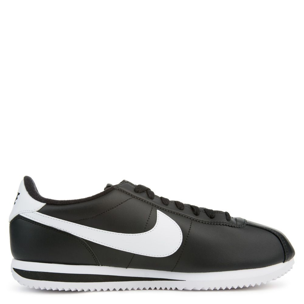 819719-012 Homme Nike CORTEZ BASIC LEATHER Chaussures - Noir/Blanche