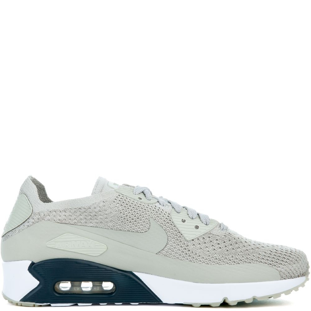 875943-006 Nike Air Max 90 Ultra 2.0 Flyknit - Grise/Grise-Armory Navy