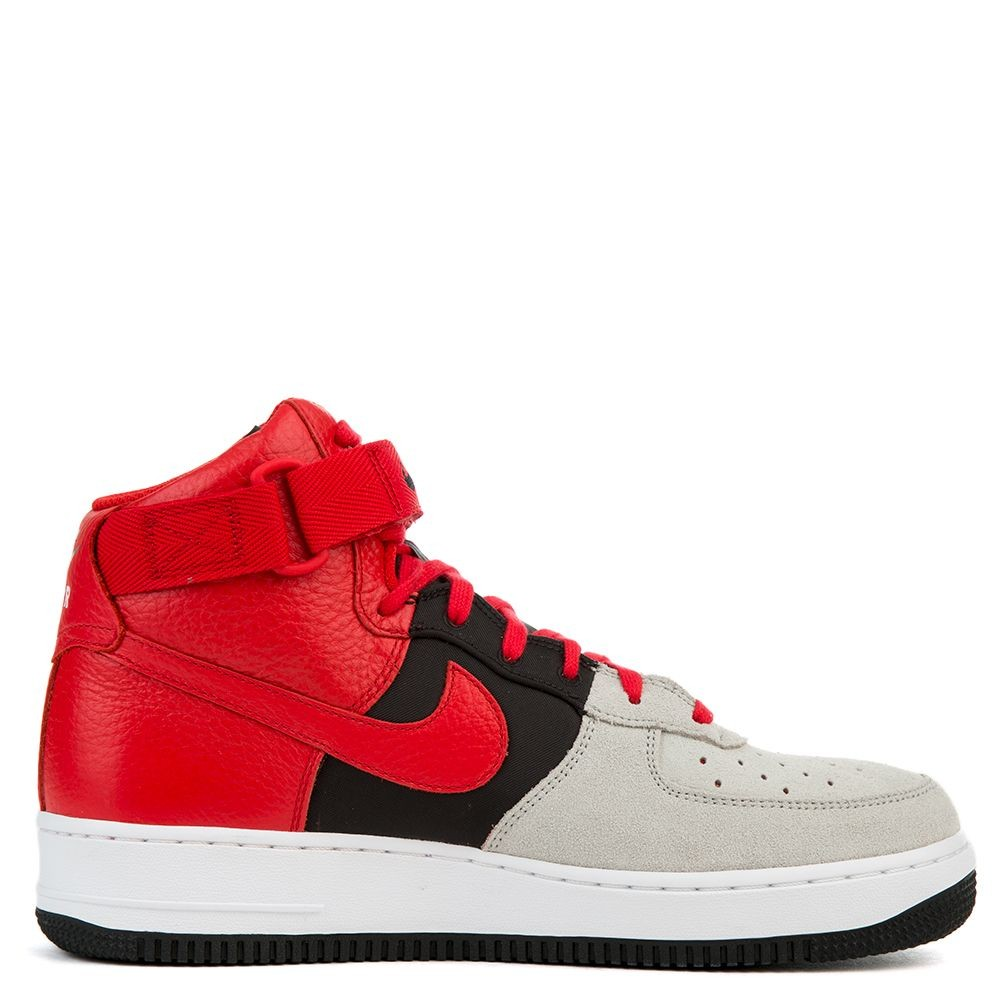 806403-007 Nike Air Force 1 High '07 LV8 - Grise/Rouge-Noir