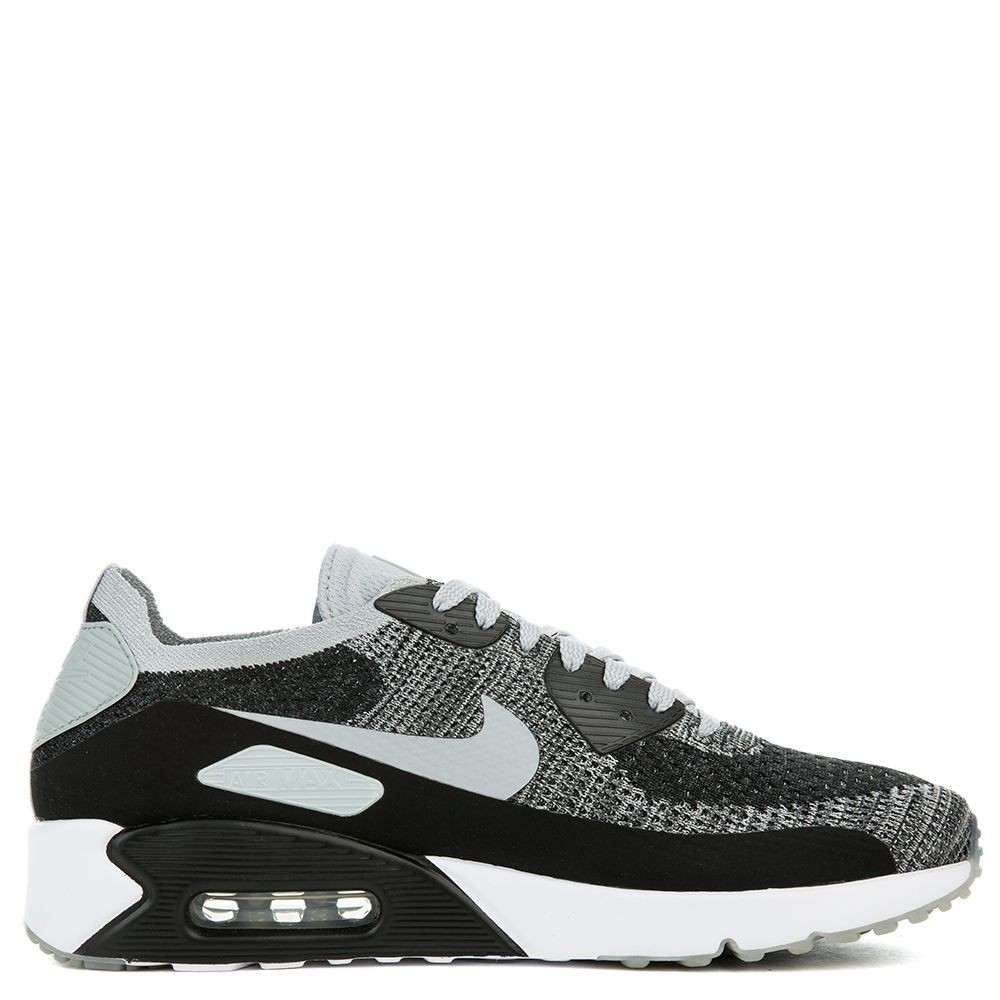 875943-005 Nike Air Max 90 Ultra 2.0 Flyknit - Noir/Grise-Pure Platinum