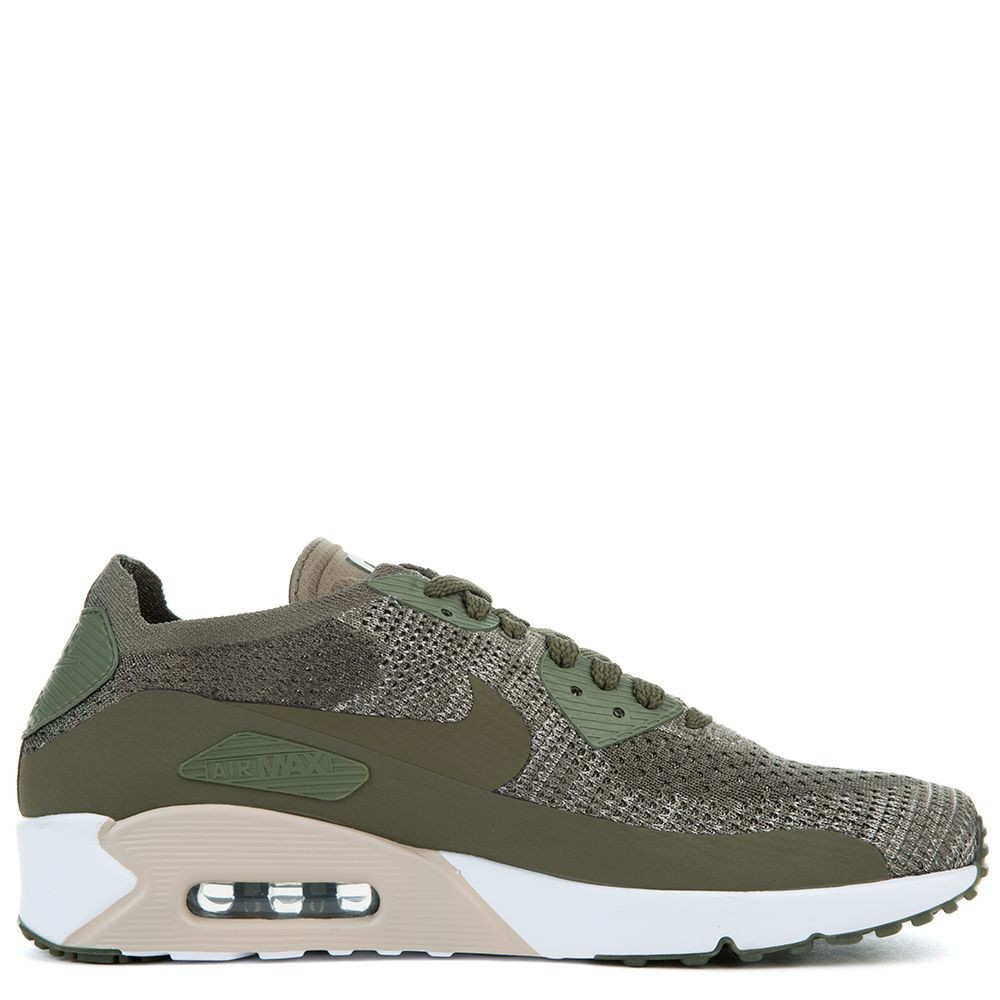 875943-200 Homme Nike AIR MAX 90 ULTRA 2.0 FLYKNIT - Olive Cargo/Vert