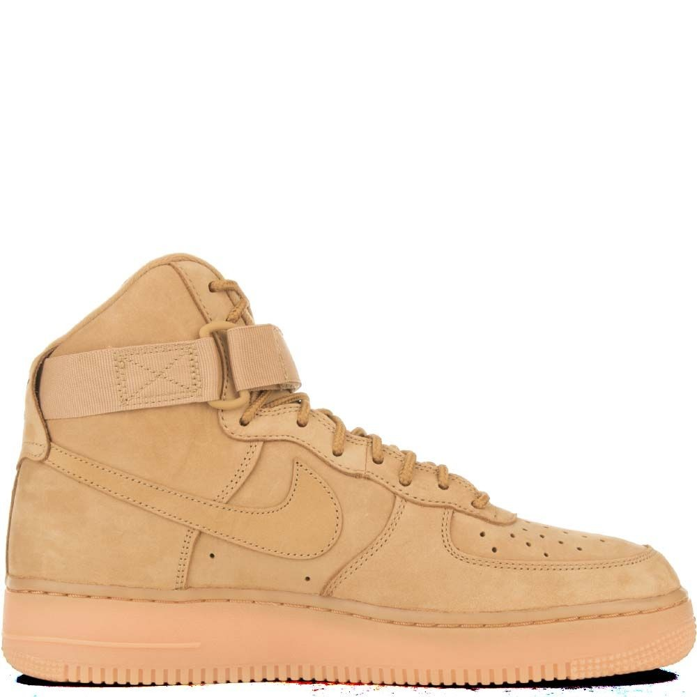 882096-200 Homme Nike Air Force 1 High Chaussures - Wheat/Wheat/Marron