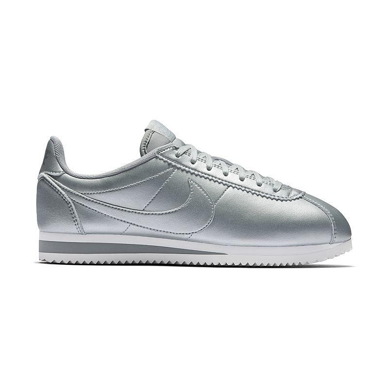 Nike Femme Classic Cortez Leather Metallic Silver/Argent 807471-003