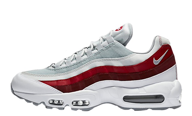 NIKE AIR MAX 95 Essential Blanche Rouge Grise 749766-103