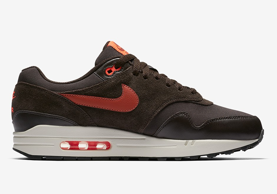 Nike Air Max 1 Premium Marron/Orange Homme Chaussures 875844-202