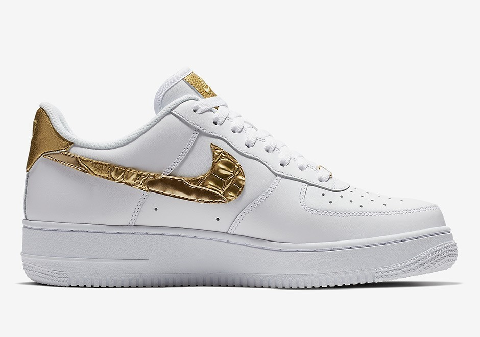 """Nike Air Force 1 CR7 """"Golden Patchwork"""" Chaussures AQ0666-100 Blanche"""