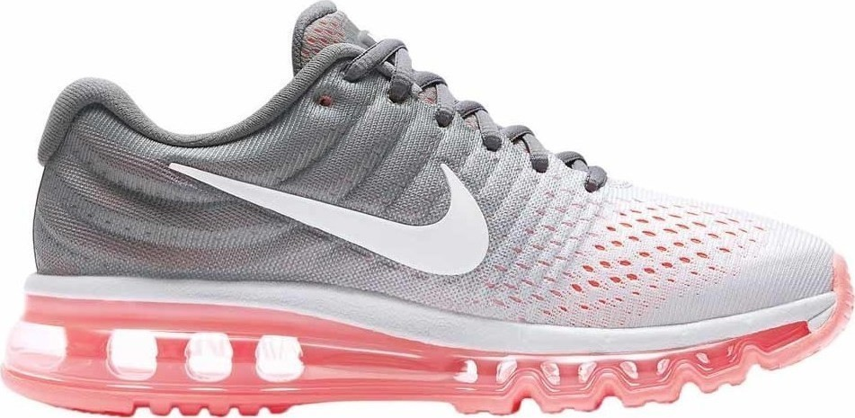 Nike Air Max 2017 Femme Chaussures Pure Platinum/Grise/Hot Lava/Blanche 849560-007