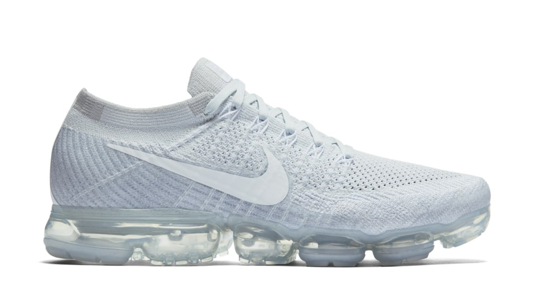 Nike Air Vapormax Flyknit Pure Platinum/Blanche/Grise 849558-004
