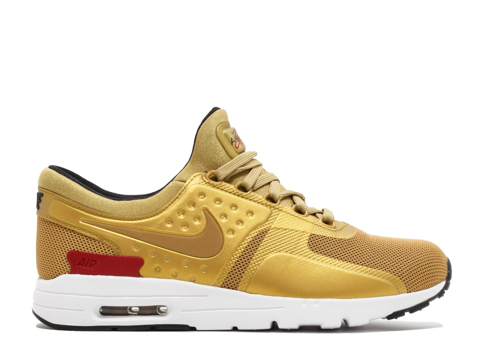 Nike Air Max Zero 863700-700 - Metallic Gold/Blanche/Noir/Rouge Chaussures