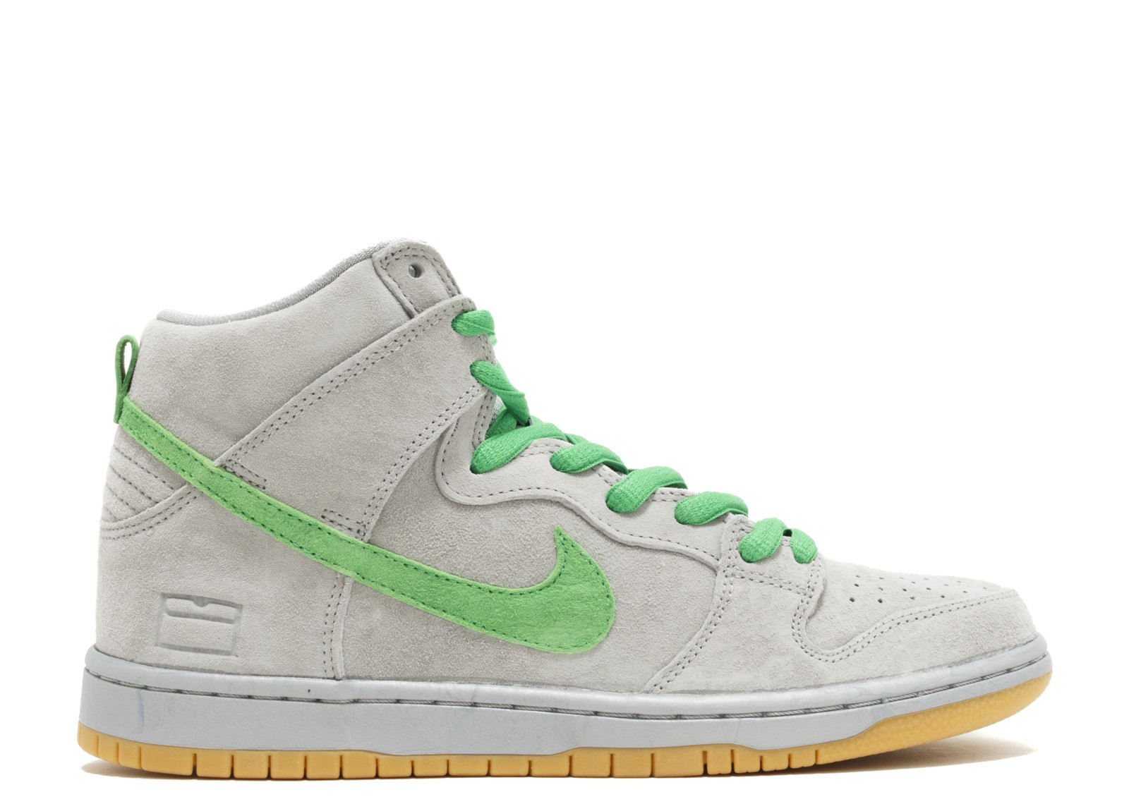 "Nike SB Dunk High Premium ""Grey Box"" Plata/Vert-Jaune 313171-039"
