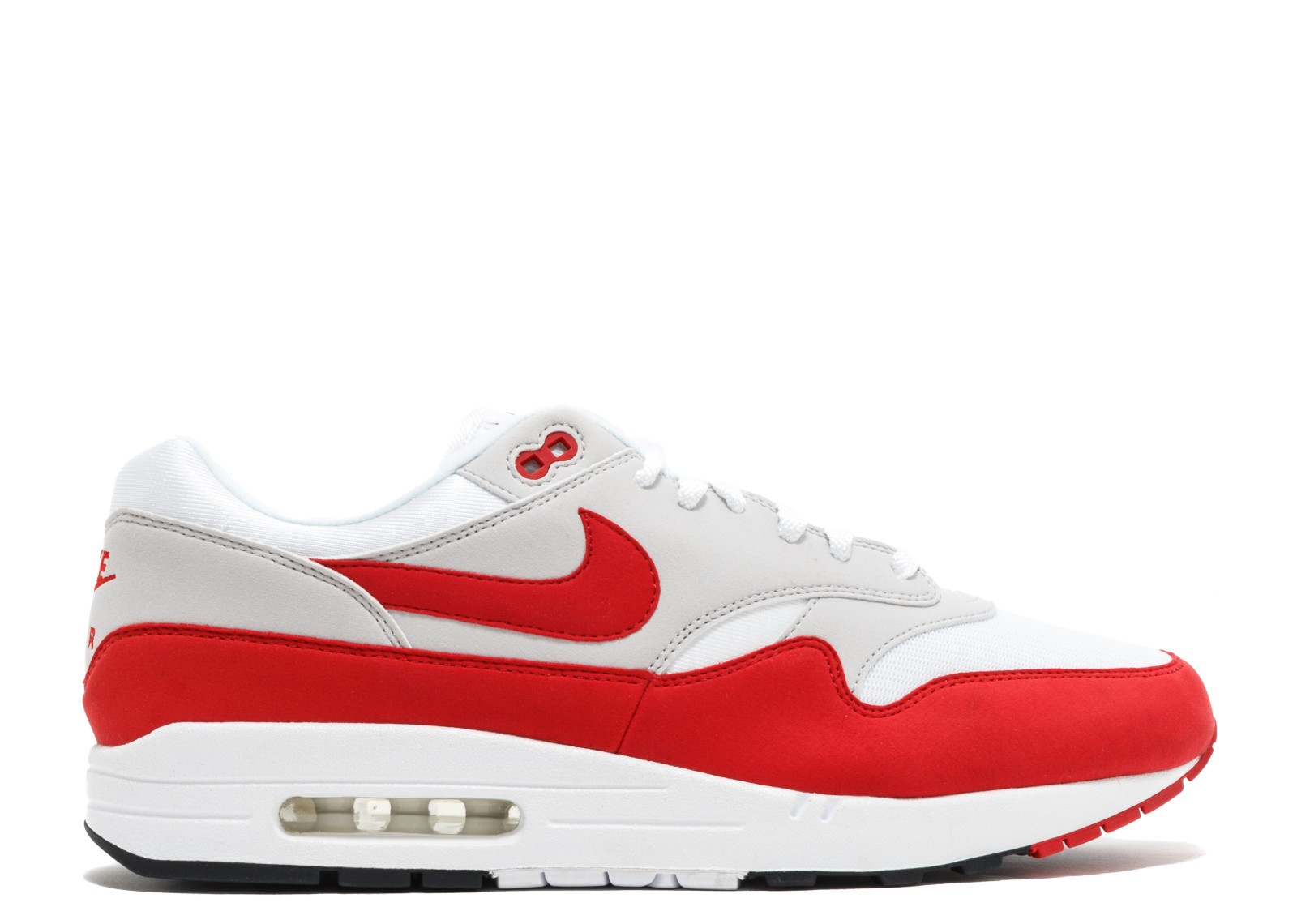 Nike Air Max 1 Anniversary Blanche/Rouge 908375-100