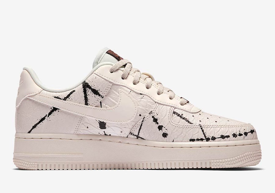 "Nike Air Force 1 Low LX ""Phantom Snakeskin"" Femme Phantom/Noir/Blanche 898889-007"