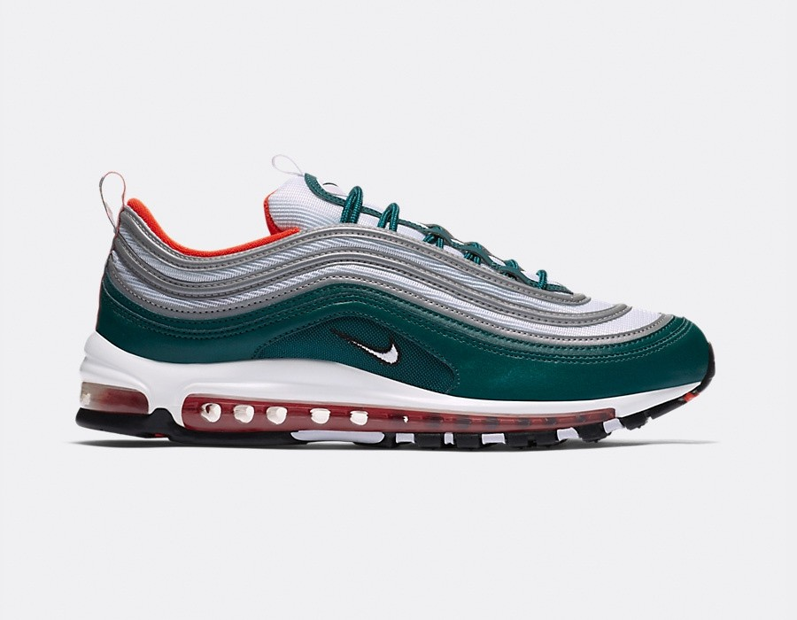 921826-300 Nike Air Max 97 - Rainforest/Blanche-Orange-Noir