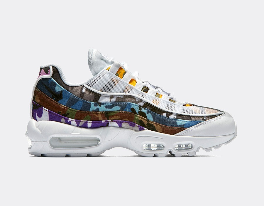 AR4473-100 Nike Air Max 95 ERDL Party Chaussures - Blanche/Multi-Color