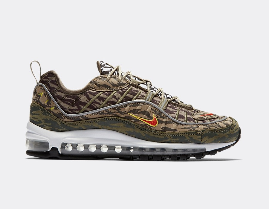 AQ4130-200 Nike Air Max 98 AOP - Khaki/Orange-Olive