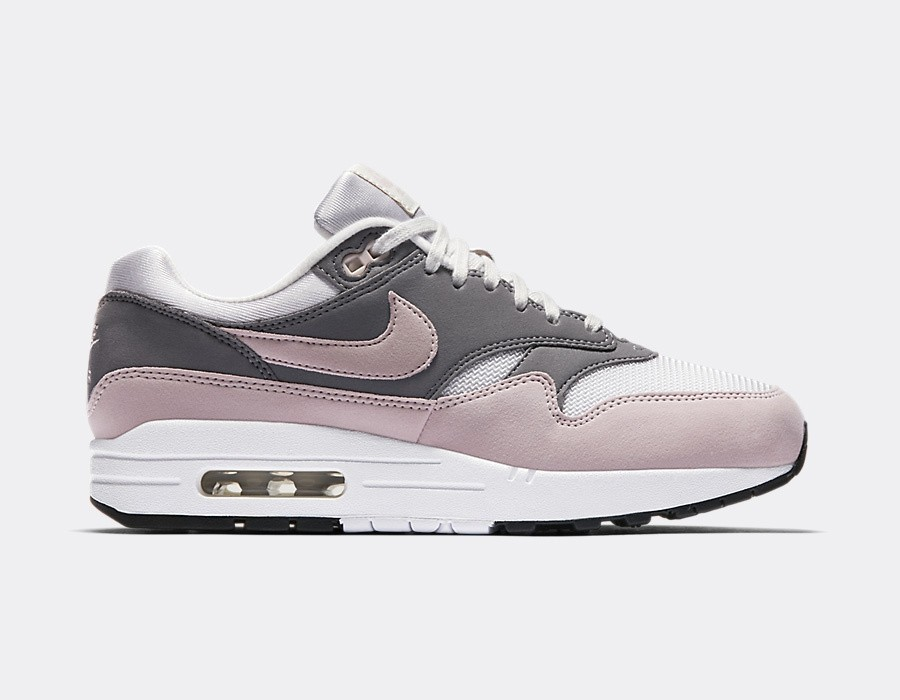 319986-032 Nike Femme Air Max 1 - Grise/Particle Rose-Gunsmoke-Noir