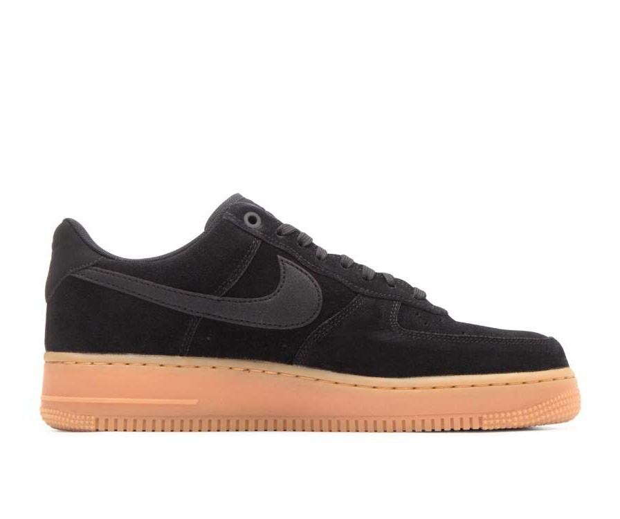 AA1117-001 Nike Air Force 1 '07 Lv8 Suede - Noir/Noir-Gum Marron-Ivory