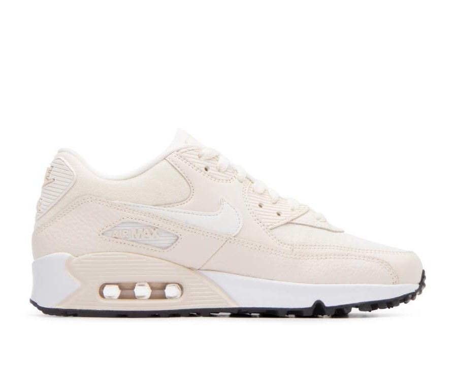 325213-213 Nike Femme Air Max 90 Chaussures - Light Cream/Sail-Noir