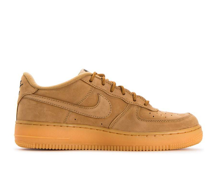 943312-200 Nike Air Force 1 Winter Premium GS - Flax/Flax-Vert-Jaune