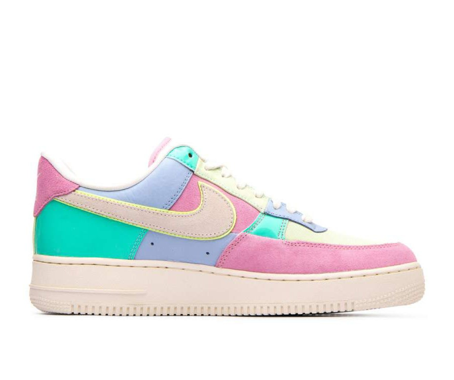 AH8462-400 Nike Air Force 1 '07 Qs Chaussures - Ice Bleu/Sail