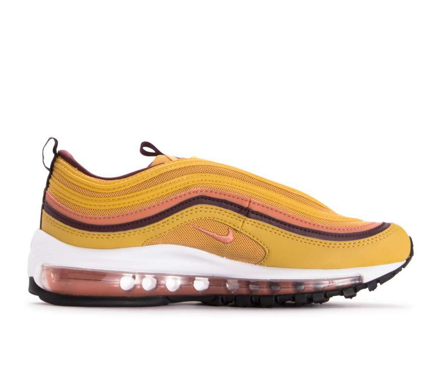 921733-700 Nike Femme Air Max 97 Chaussures - Wheat Gold/Terra Blush-Burgundy