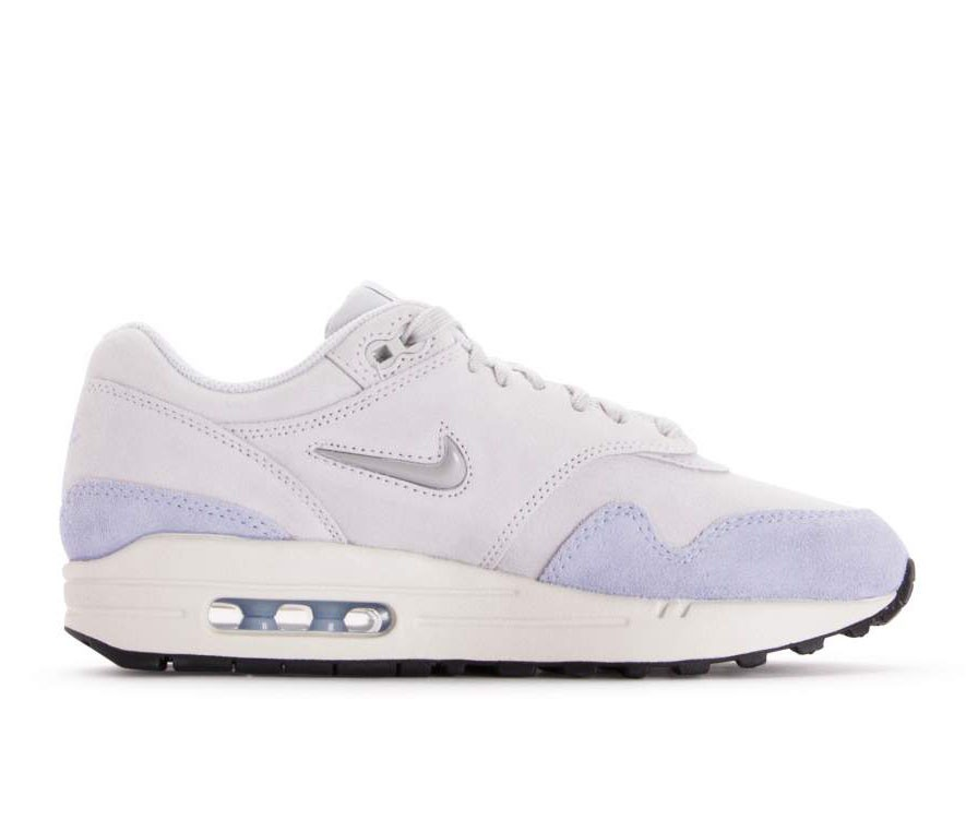 AA0512-004 Nike Femme Air Max 1 Premium SC - Pure Platinum/Metallic Platinum-Royal Tint