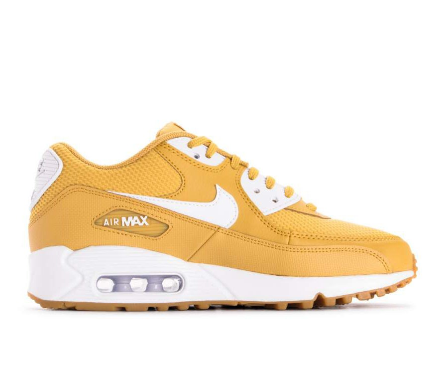 325213-701 Nike Femme Air Max 90 Chaussures - Wheat Gold/Blanche-Marron