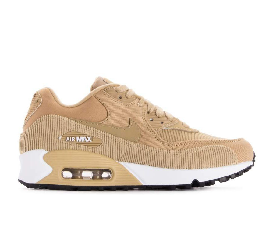921304-200 Nike Femme Air Max 90 Leather Chaussures - Beige/Noir