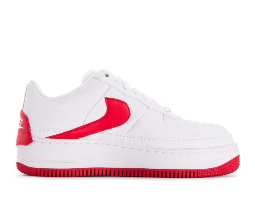 AO1220-106 Nike Femme Air Force 1 Jester XX - Blanche/Rouge