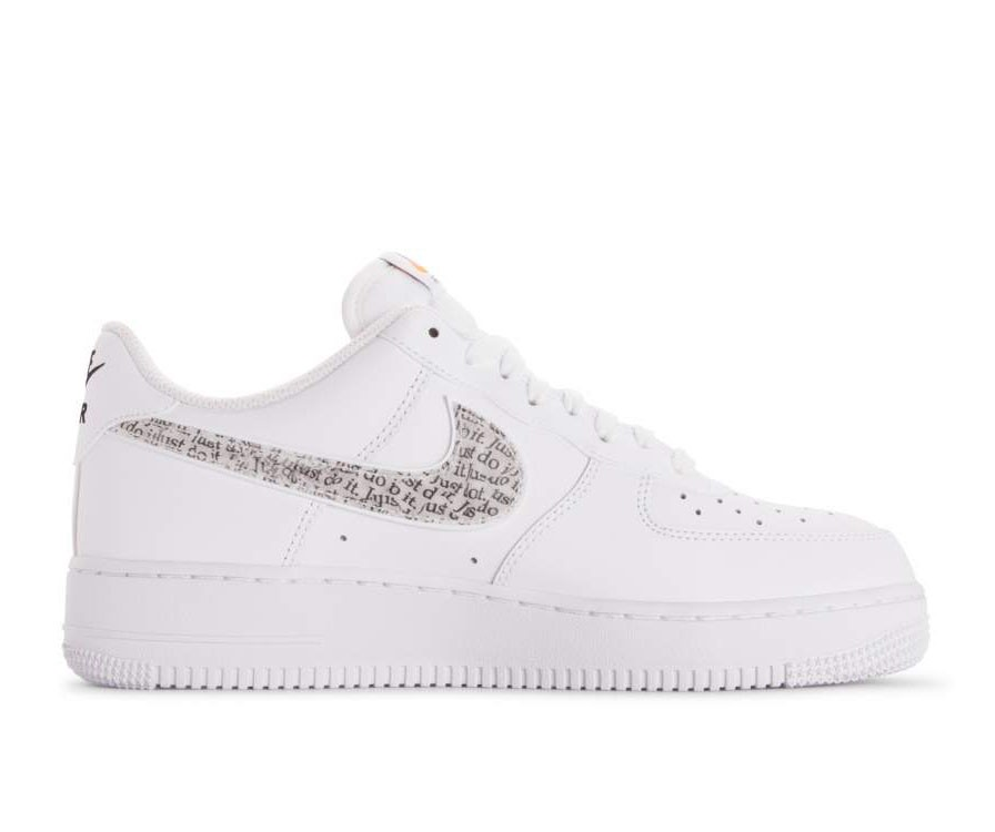 BQ5361-100 Nike Air Force 1 '07 Lv8 JDI Lntc - Blanche/Blanche-Noir-Orange