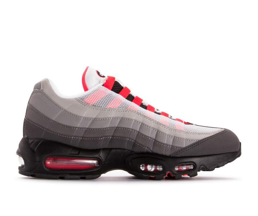 AT2865-100 Nike Air Max 95 Og Chaussures - Blanche/Rouge-Granite Dust