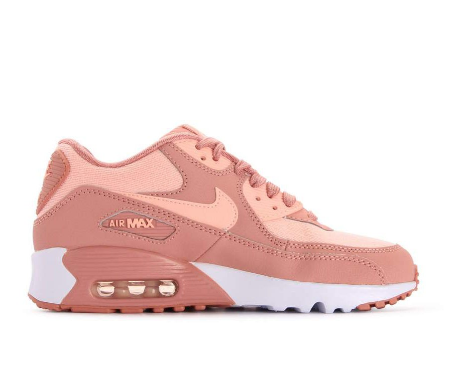 880305-601 Nike Air Max 90 SE Mesh GS - Rose/Rose-Guava Ice-Blanche