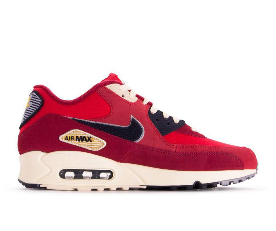 858954-600 Nike Air Max 90 Premium SE Chaussures - Rouge/Violet